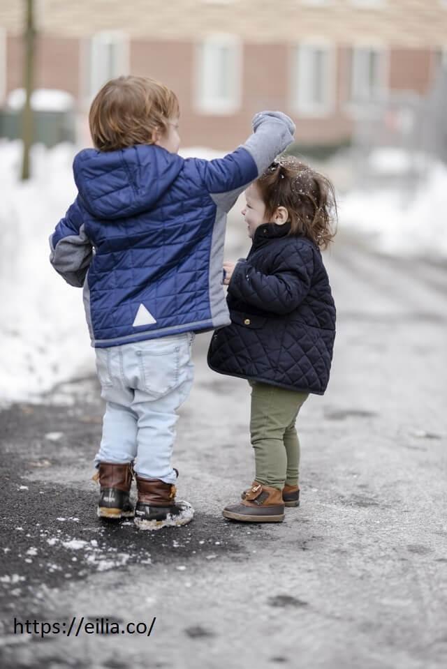 لایه های لباس کودک