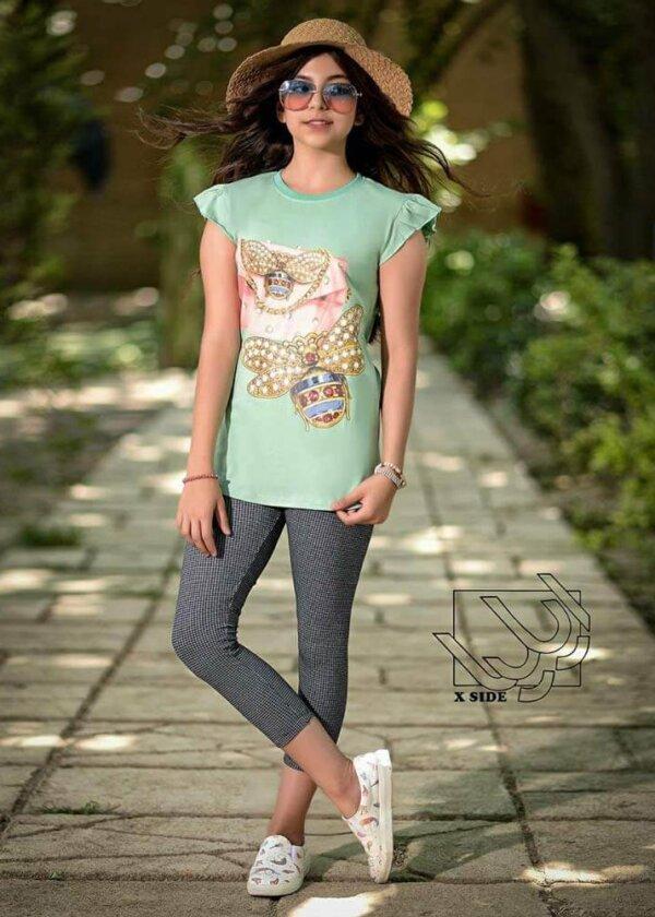ست تی شرت و شلوار دخترانه